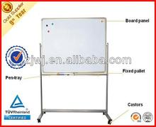 Dual sided magnetic movable whiteboard with wheels