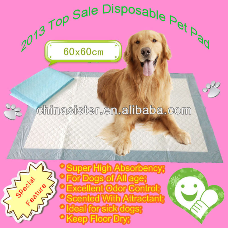 2012 Top Sale 60*60cm Disposable Waterproof Pet Pad