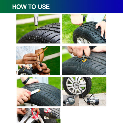 New Flat motorcycle car tire repair kit emergency plug tool set