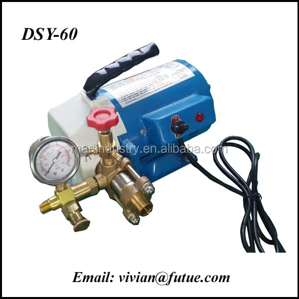 High Quality 60Bar Motorized Pipe Pressure Test Pump, easy pressure testing