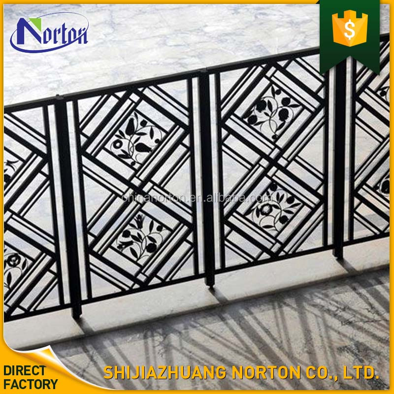 wholesale art design wrought iron material outdoor indoor usage railings NT-WI138Y