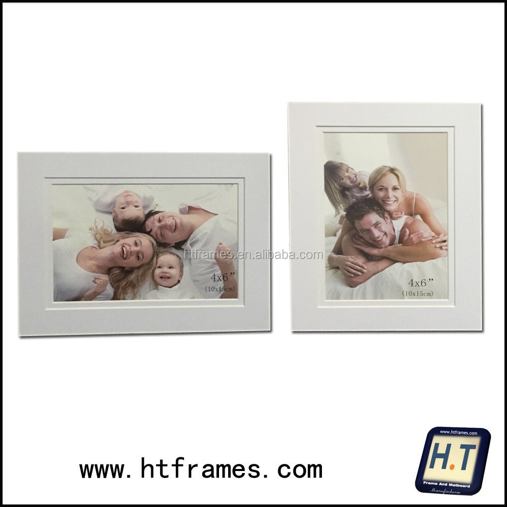 double mats white paper frame 4x6