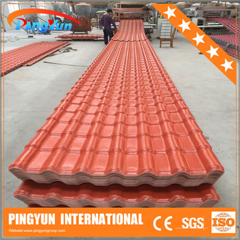 Royal style plastic pvc roofing tile/ anti-uv synthetic resin roof tile/color stable plastic spanish roofing tile