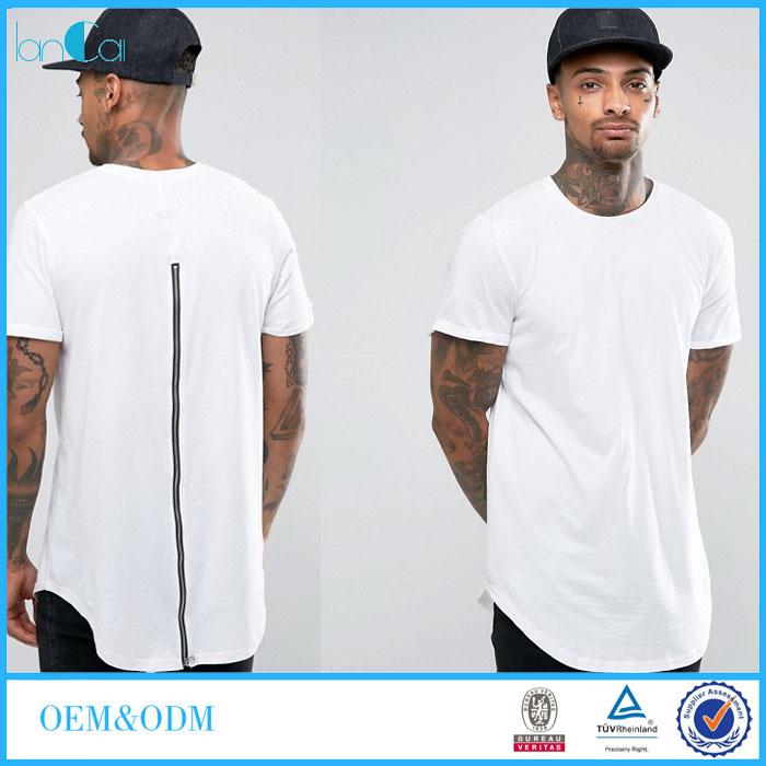 Brand Names Men's Shirt with Zip-through Back Formal T-shirts for Men LC7241-G