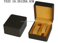 Black paper covered plastic couple watches packing box