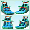 Blue and white giant inflatable water slide for kids and adults water sports