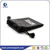 Luxury eco-friendly black pu drawstring pouch with printed logo