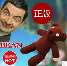 "1 Piece 9"" Mr Bean Teddy Bear Animal Stuffed Plush Toy, Brown Figure Doll Child Christmas Gift Toys Free Shipping"