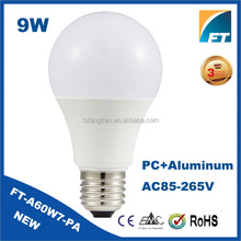 CE approval 100-240V B22 IC Driver 9w led lighting bulb