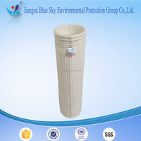 Polyester filter bag for bag filter