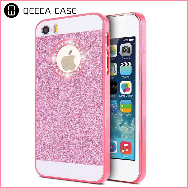 Luxury Ultra Thin 3D Handmade Sparkle Glitter Crystal Rhinestone Hard PC Shockproof Back Phone Case For iPhone 6 6s 7