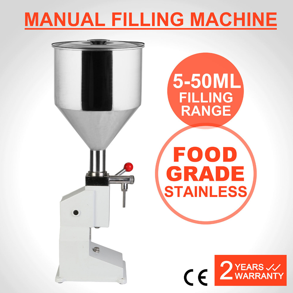Newest Design 5~50ml <strong>Manual</strong> <strong>Filling</strong> <strong>Machine</strong> For Cream Shampoo And Cosmetic Stainless Steel