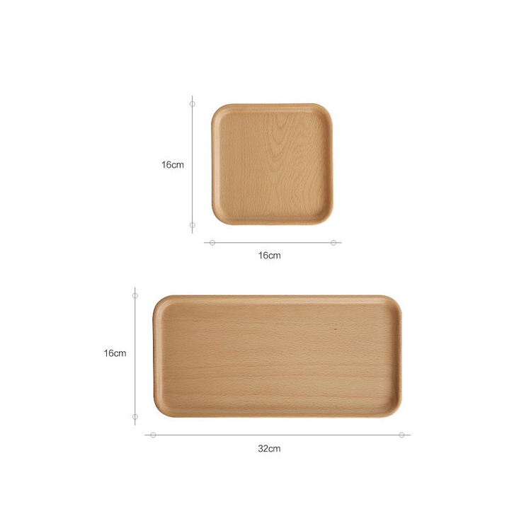 Natural Walnut Food Serving Cheap Wood Favor Wooden Tray Wholesale in China