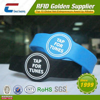LOGO Printable Rubber RFID Silicone Wristband Watch for Events