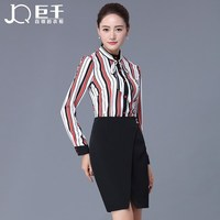 New 3 Color Black Red and White Office Ladies Casual Suit Women Skirt Suit Office Ladies Formal Skirt Suit