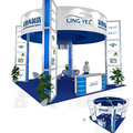 Detian Display offer opening island exhibition booth stand portabe booth display for trade show
