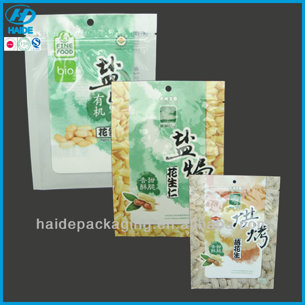 printed plastic food package bags for peanuts
