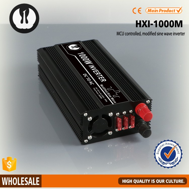 square wave 1000w to battery cables power module inverter for shower with MCU technology