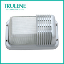 Aluminum square outdoor wall bulkhead E27