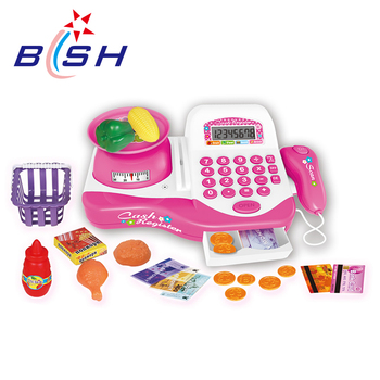 Funny nice quality kids cash register pretend toys for hot selling