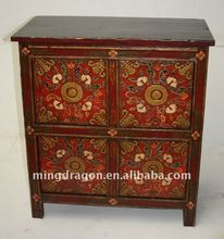 Antique Tibetan reproduction furniture with four doors