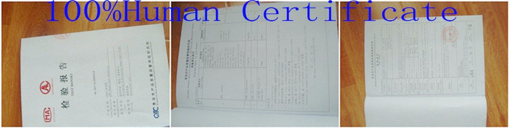 human hair Certification