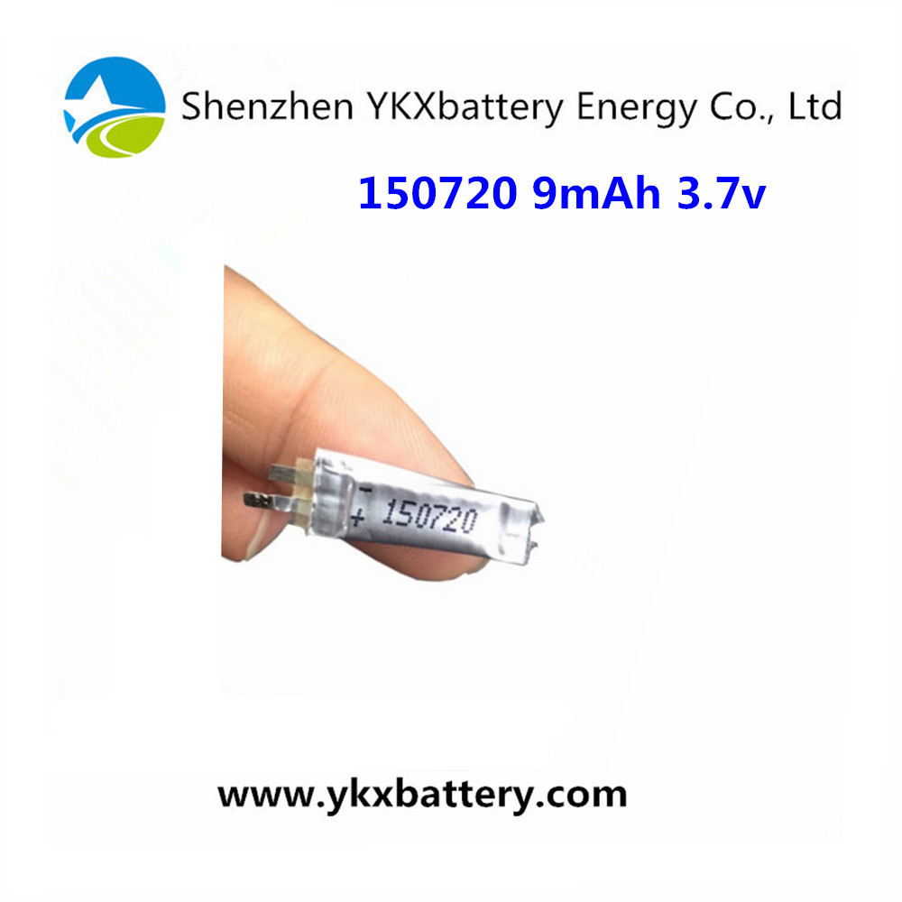 Good quality 9mAh 150720 1.5mm super thin Li-ion polymer Battery for bluetooth earphone