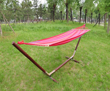 Cotton Canvas Fabric single Hammock Outdoor Indoor Swing Sleep Bed