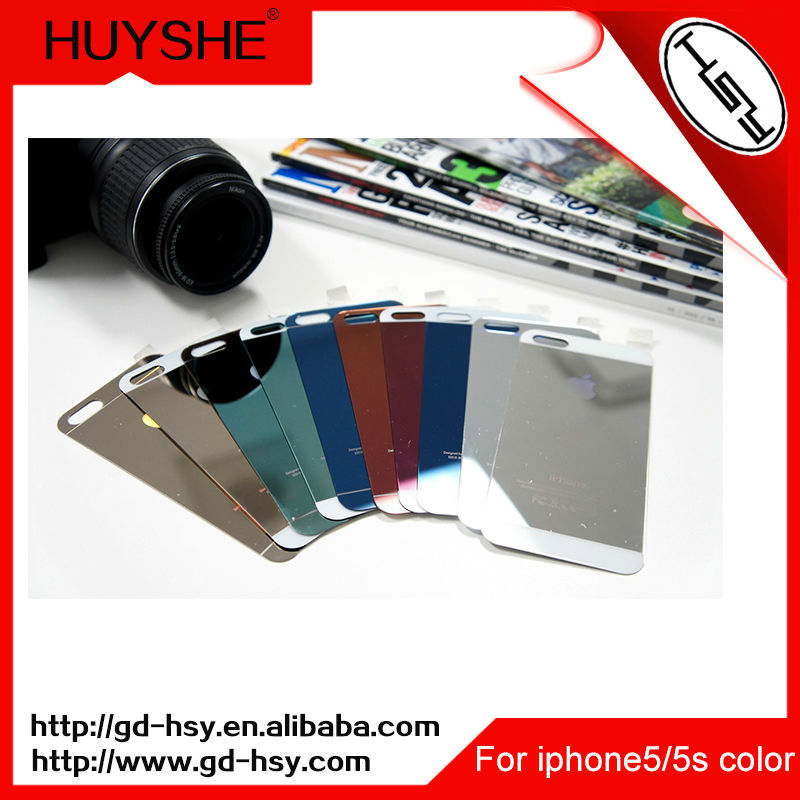 HUYSHE color border tempered glass screen protector for iphone 5s