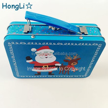 Wholesale Plain Tin Lunch Box/Rectangle Tin Cans/Rectangular Candy Gift Metal Box with Handle