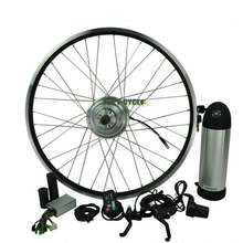 Easy Assemble Rear/Front Bicycle Electric E Bike Kit With Bottle Battery