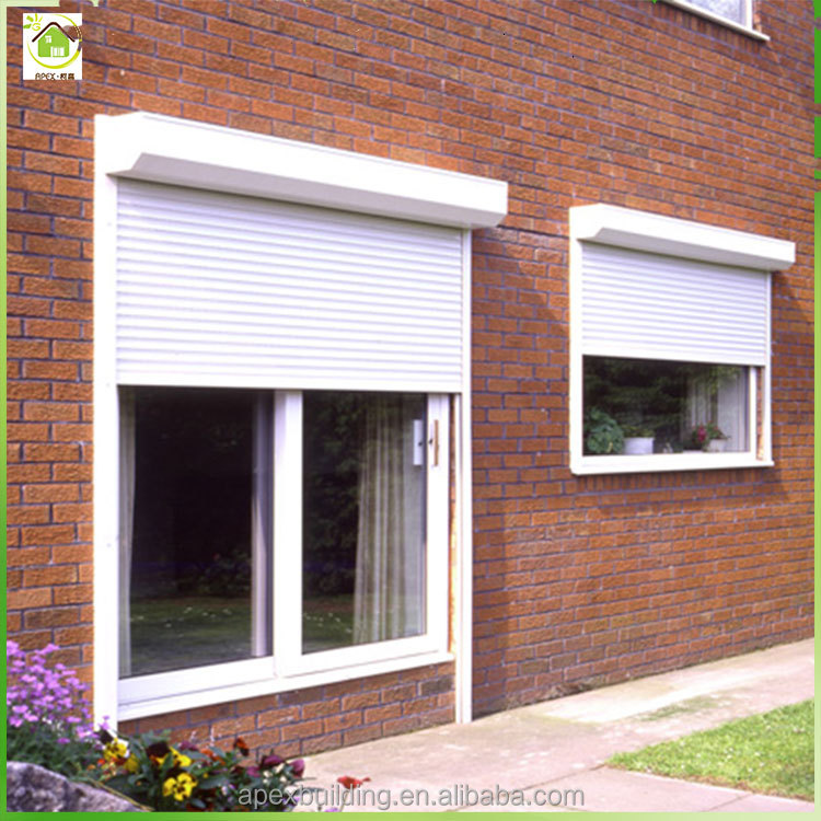 Aluminum electric or motorized unique window metal rolling shutter