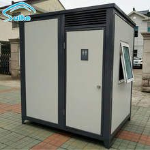 China factory india portable toilet, prefab modular public toilet for sale