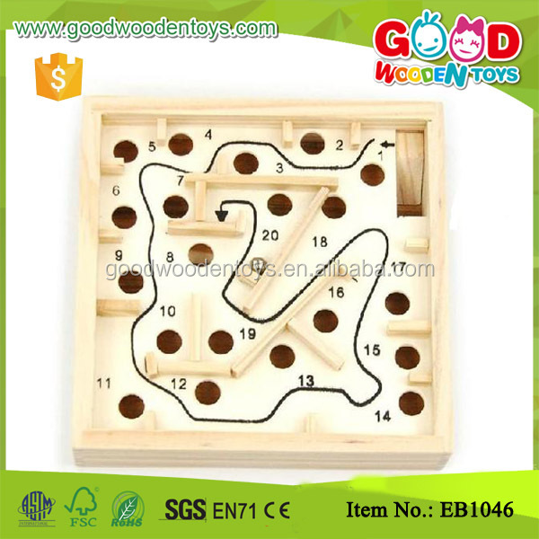 Pinewood Small Size Maze Toy Promotion Gift for kids