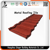 Roofing Tile Corrugated Stone Coated Chip Decorative Steel Metal Roofs
