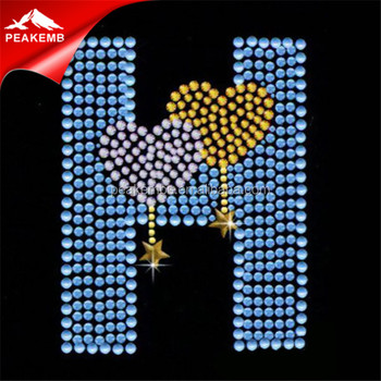 Valentine Jewelry Diamantes And Rhinestones Love Hotfix Rhinestone Motif