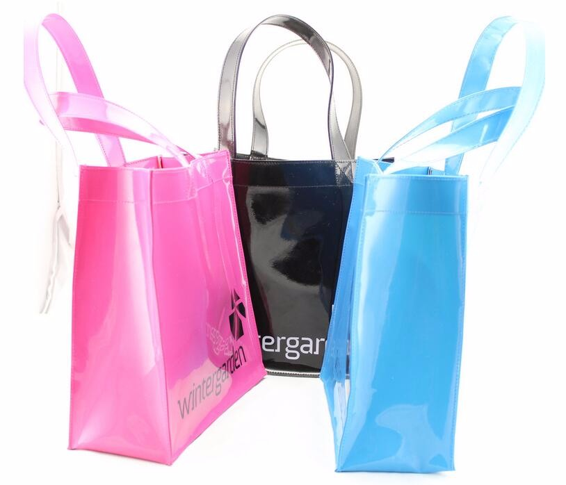 Pvc tote bag utility polyester tote bag blank printed nylon standard size lady custom tote bag