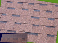 low price laminated fiberglass asphalt roofing shingles in China