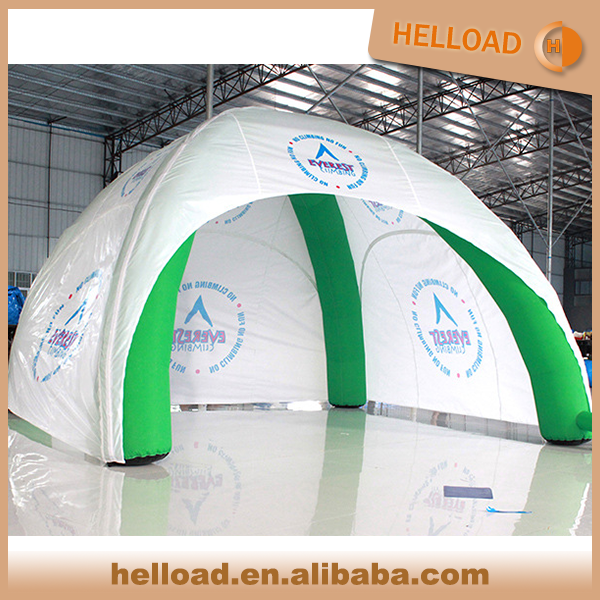 wholesale outdoor inflatable spider tent 4*4m with air blower and tube