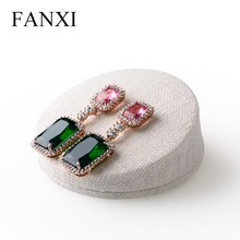 FANXI professional custom linen jewelry display stand for counter earring/ear stud jewelry display exhibitor showcase