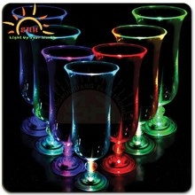 High quality Light Up Hurricane Glasses/Flashing light glass/LED bar use glass