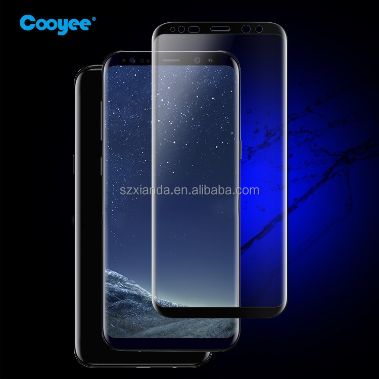 Cooyee premium 3D curved glass screen protector for galaxy s8 plus
