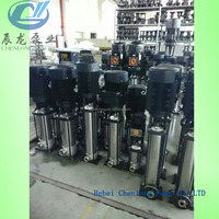 GDL hotel hot water booster pump vertical multistage pump stainless steel centrifugal inline pump