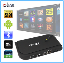 cheapest android tv box 5V-2A Input Power cheap android S812 v8 plus free internet 4k tv box