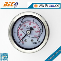 Industrial standard all SS bourdon tube pressure gauge wika