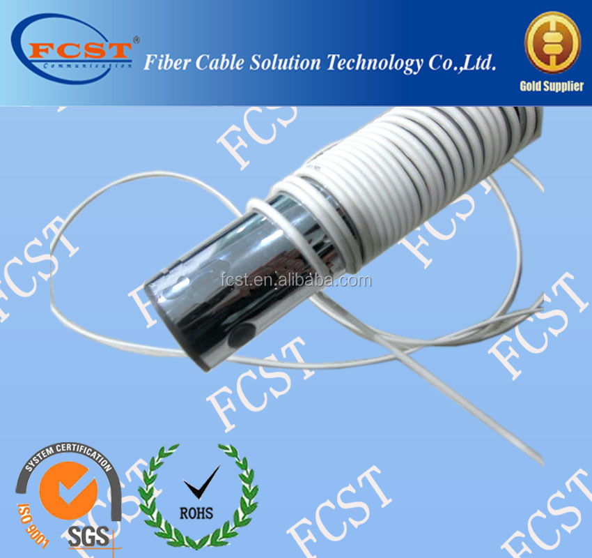 Duplex Flat Flexible Optic Fiber Armored Cable