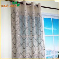 Top grade hotel use embroidery drapery curtain fabric outlet