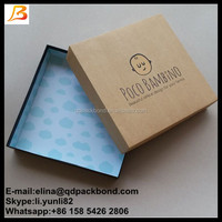 Top quality custom made large baby clothes cardboard craft gift boxes, brown craft box