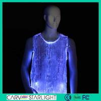 2015 Hot sell led glowing fashionable adult sexy men nightwear t shirt