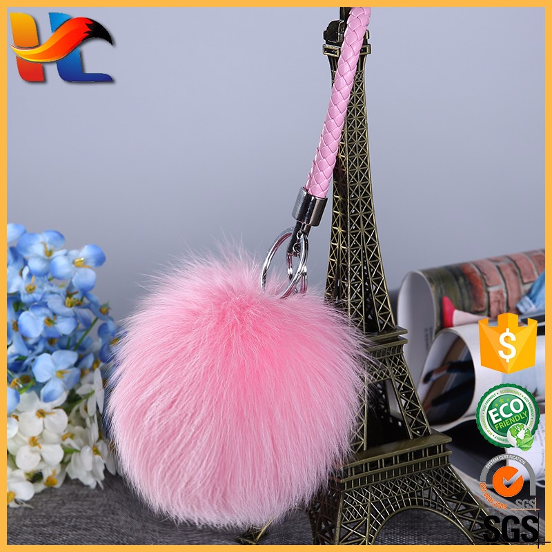 Fashion Hair <strong>Bulb</strong> Fluffy Fur Ball Key Chain Bag Charm Clip Fuzzy Ball for Mobile Phone Pendant Fur Pompom Keyring/Key Chain